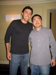 Jairek Robbins and Jerry Chen (me) in Las Vegas