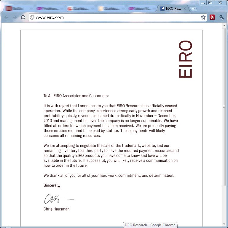 Eiro Research letter